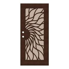 Unique Home Designs 36 in. x 80 in. Sunfire Copperclad Right-Hand Surface Mount Aluminum Security Door with Desert Sand Perforated Screen- $900 @ HD