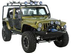 Body Armor 4x4 Roof Rack Base Kit For 07-14 Jeep® Wrangler Unlimited JK 4-Door Quadratec Part No: 12028.7000 Manufacturer Part No: JK-6124 $519