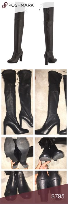 Stuart Weitzman black leather Highland boot I ❤️ this boot! Stuart Weitzman black leather over the knee Highland boot- a definite must have! Purchased last year at SW store. I've worn them maybe 4 times. Some minor scuffs that can be polished out-hardly noticeable though. Size 9.5- true to size. Comes with box. I'm selling because I want a different color and cannot justify having 2 pair 😳😁 Price firm. NO trades please. Photo: stuartweitzman.com Stuart Weitzman Shoes Over the Knee Boots