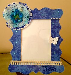 Custom Frame for a Baby Gift $25.  Contact me at https://www.etsy.com/shop/Scrapbooker429