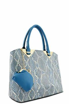 Designer Python Tote Bag w/Coin Purse