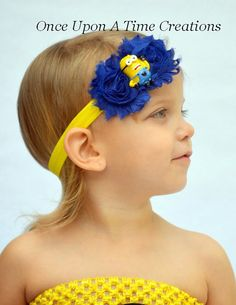 Adorable Minion Headband - Despicable Me Birthday Party Hairbow - Minion Dave Birthday Hair Bow - Royal Blue & Yellow Color Minions, Minion Dave, My Minion, Despicable Me Party, Minion Party, Birthday Hair, Minion Birthday, 5th Birthday Party Ideas, Birthday Party Favors