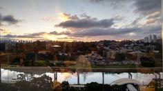 Vista do escritório!  #sunset #pordosol #saopaulo #sp #nofilter by tarcisioboechat