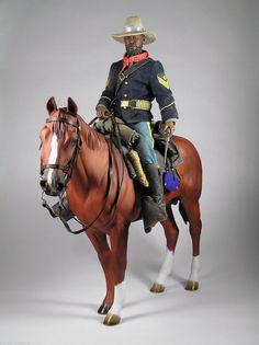 Buffalo Soldier Horse Custom 1 6 12in Figure   eBay