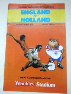 England v Holland FA International Football Programme 25/05/1982 Listing in the Other,International Fixtures,Football (Soccer),Sports Programmes,Sport Memorabilia & Cards Category on eBid United Kingdom