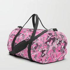 Grim Ripper Skater Camo PINK Duffle Bag