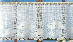 Crocheted Curtain  Forest by LaisviakCrochet on Etsy, $88.00