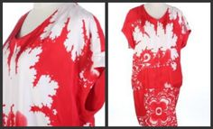 $998 ***ERMANNO SCERVINO red SILK dress IT42 US8 - Dresses