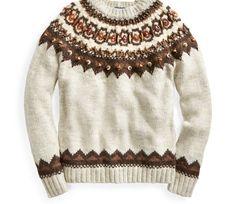 Women s Beaded Fair Isle Sweater from  Polo  RalphLauren Wool Sweaters 405f3ccbe