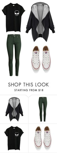 """""""outfit"""" by taylor-ross115 on Polyvore featuring H&M, Converse, women's clothing, women's fashion, women, female, woman, misses and juniors"""