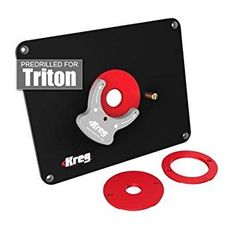 Triton tri tra001b router triton has directly addressed the kreg precision router table insert plate w level loc rings predrilled for triton greentooth Images