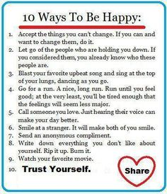 10 Tips for Happiness -PositiveMed | Where Positive Thinking Impacts Life