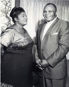 """Mahalia Jackson with Jersey Joe Walcott Photographed in 1960  Image of Mahalia Jackson with boxer Jersey Joe Walcott. Mahalia Jackson is considered the """"Queen of Gospel"""". She became the most popular gospel singer of her time betwen the late 1940s and the early 1970s. In addition to her groundbreaking work in mainstreaming Black gospel, Jackson was also extremely active in the Civil Rights movement. She performed at both the March on Washington in 1963 and Dr. Martin Luther King Jr.'s…"""