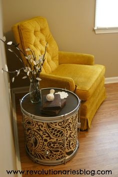 Side table tutorial from a drum. Perfect!