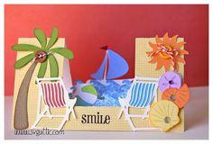 Beach Theme Step Card.   *