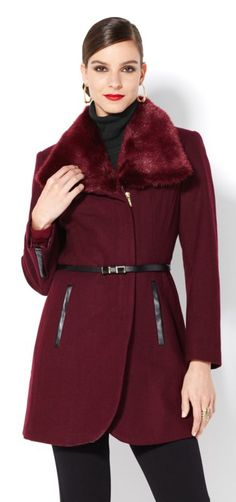 For one-of-kind luxury pieces, Iman's Platinum Collection brings you fabulous pieces for every occasion! From the finest leathers to luxe faux furs and meticulous detail, it doesn't get any better than this! Which of the three colors in this coat are you loving for this season? What would you pair with your coat?