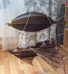 Steampunk airship by Sereniti-Dragonheart on deviantART
