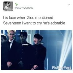 you can always see every emotion he feels on his sweet face Woozi, Wonwoo, Jeonghan, Seventeen Memes, Hoshi Seventeen, E Dawn, Bts And Exo, Seungkwan, The8