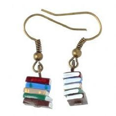 Stack of Books Earrings