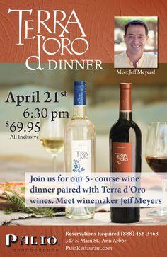 Promo_Palio_TerraDOro_MV Wine Dinner, Ann Arbor, Wines, Bottle, Flask