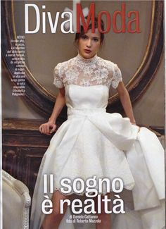Un modello delle Collezioni 2016 di Elisabetta Polignano apre lo 'Speciale Sposa' di Diva & Donna,