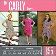 We all want a cute dress that lets us breathe and move easier, so we are excited about the Carly - a swing dress that flatters the best parts of a feminine physique while being flowy and breezy everywhere else. The Carly comes in a wide array of fabrics, prints, and washes and has some amazing features such as a patch pocket, a flattering high-low hemline, and cool open sleeves. #lularoecarlydress #lularoe