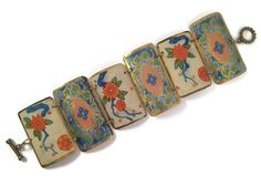 Recycled tin bracelet by Tin Moon Jewelryworks.