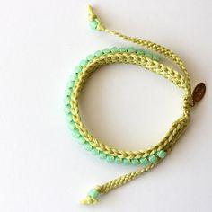 Custom Listing Crocheted Beaded Friendship Bracelet by itsmemary, $15.00