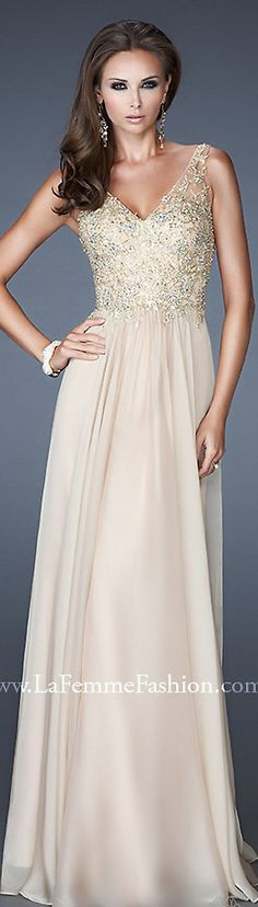 Formal long dress #nude