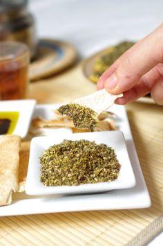 Zatar  Recipe here: http://parisalep.com/2012/02/23/zaatar-melange-de-thym-et-depices/  Types of Zatar: Lebanese or Aleppo style: http://www.tasteofbeirut.com/2012/04/zaatar-aleppo-or-lebanese-style/