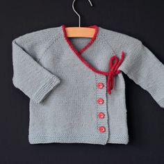 Simple wrap cardigan pattern available at LoveKnitting!