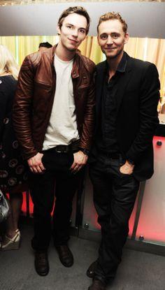 Tom Hiddleston and Nicolas Hoult