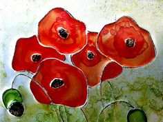 Upcycled Soda Pop Can Poppies Wall Art by RainyRootsStudio on Etsy