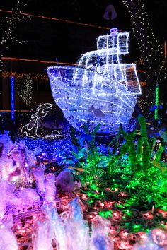 Lighting Design, Christmas Tree, Night, Holiday Decor, Home Decor, Light Design, Teal Christmas Tree, Holiday Tree, Xmas Tree