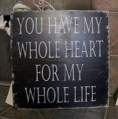 Love this, cute quote for a wedding too!