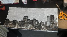 Newspaper Decoupage Artwork #DIY #Craft