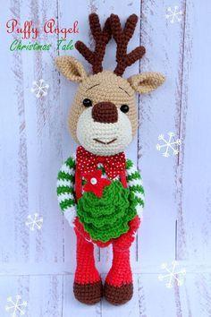 Free Christmas deer amigurumi pattern