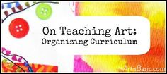 organizing curriculum suggestions