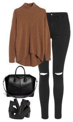 """Untitled #233"" by lindsjayne ❤ liked on Polyvore featuring Topshop, Madewell, Miista and Givenchy"