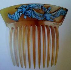 Lalique bat hair comb