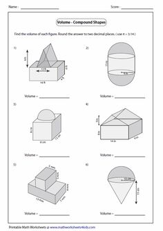 Explore our huge collection of free printable volume worksheets featuring practice and revision exercises involving solid shapes. Area And Perimeter Worksheets, Area Worksheets, Shapes Worksheets, Subtraction Worksheets, Printable Math Worksheets, Tracing Worksheets, Worksheets For Kids, Printables, Numbers Kindergarten