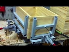 Beehive assembly jig - YouTube