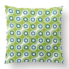 "18"" Custom Outdoor Linked Cushion  Linked Item# CC-OD0005 100% Polyester Cover 100% Polyester Fill Green Custom Outdoor Cushions, Fill, Throw Pillows, Cover, Green, Prints, Design, Toss Pillows, Cushions"