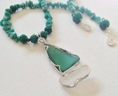 Ready To Set Sail in White and Deep Sea Green by glassredefined, $80.00
