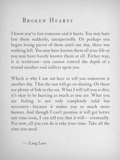 by lang leav All the words I wish I could come up with when my friends are hurting. Great Quotes, Quotes To Live By, Me Quotes, Inspirational Quotes, Hurt Quotes, Qoutes, Quotes For You, Quotes About Breakups, Get Over Him Quotes