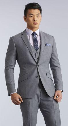 The Quarry Grey Three Piece Suit                              …