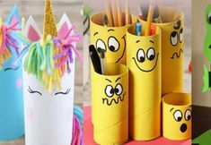 Simpáticas figuras con rollos de cartón Bee Crafts For Kids, Arts And Crafts, Paper Flowers Diy, Flower Crafts, Felt Crafts, Paper Crafts, Decoupage Jars, Happy Birthday Girls, Photo Candles