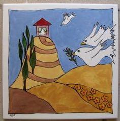 Hand painted tile by Monica tiles Tiles, Disney Characters, Fictional Characters, Hand Painted, Art, Room Tiles, Art Background, Tile, Kunst