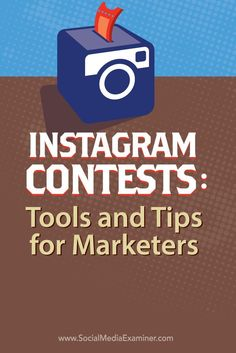 Do you want to increase engagement on Instagram?  Instagram contests are a great way to get people talking about your business and increase your followers.  In this article youll discover tools and tips to help marketers run a successful Instagram contes