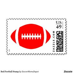 Red Football Stamp